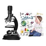 Kinder Mikroskop, Fozela 100x 600x 1200x Junior Mikroskop Kit mit Integrierte LED-elektrische...