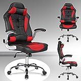 UEnjoy Gaming Stuhl Racing Stuhl Leder Bürostuhl Chefsessel Schreibtischstuhl mit Armlehnen &...