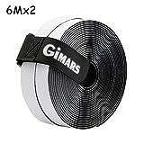 GIMARS [ 6M ] Klettband selbstklebend, Flausch & Haken, 20mm breit, inkl. ein Kabelbinder mit...