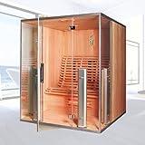Infrarotkabine 'Argos II' Infrarot Sauna für 3 Personen Wärmekabine Infrarotsauna