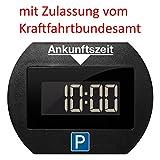 Park Lite 4251511945939 Needit elektronische Parkscheibe Digitale Parkuhr schwarz mit offizieller...