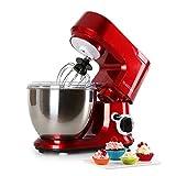 Klarstein Carina Rossa • Küchenmaschine • Rührmaschine • Knetmaschine • 800 W • 4 Liter...