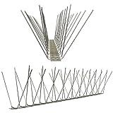 1 Meter am Stück Taubenspikes 4-reihig auf V2A-Standard - hochwertige Lösung für Vogelabwehr...