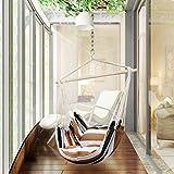 Holifine Hängesessel Aufhängung Hängestuhl mit 2 Kissen und Spreizstab aus Holz, bis 120 kg...