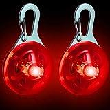 CampTeck Sicherheits Clip-On LED Nachtlicht mit 3 Lichtmodi Anhänger für Läufer, Jogger, Walker,...