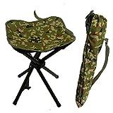 Outdoor Camouflage Quadrangle Freizeit Campinghocker Klapphocker-Portable Falten Vier Beine Camping...