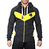 SMILODOX Slim Fit Kapuzenpullover Herren | Zip Hoodie für Sport Fitness Gym Training & Freizeit |...