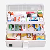 Hausapotheke Schrank, Likeluk Medizinbox Kunststoff 3 Ebene transparente Erste Hilfe Box...