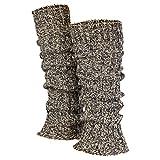 Piarini 1 Paar Grobstrick Stulpen Damen Bein | warme Winter Beinstulpen | One-Size Wolle...