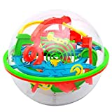 Shage 100 Barrieren 3D Labyrinth Magie Intellekt Ball Balance Labyrinth Perplexus Puzzle Spielzeug