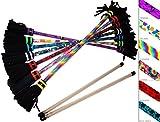 ART-Deco Flowerstick Set (7 Einzigartig Designs) inkl. Handstäbe mit 2 mm Ultra-Grip Silikon! Super...