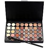 Yogogo Highlighter Kosmetische Matte Lidschatten Creme Make-up Palette Schimmer Set, 40 Farbe +...
