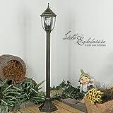 Außen Stehleuchte Stehlampe in antik aus Aluguss E27 230V Wegeleuchte Weglampe Beleuchtung Hof...