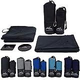 Premium Mikrofaser Handtücher • Reisehandtuch 80x160 & Sporthandtuch 45x130 mit Sleeve • incl....