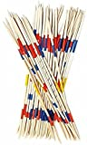 Mikado Spiel 50 cm Geschicklichkeitsspiel für die ganze Familie 41 XL Holz Stäbe für drinnen +...