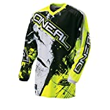 O'Neal Element Kinder MX Jersey Shocker Neongelb Motocross Enduro Offroad, 0025S-60, Größe L