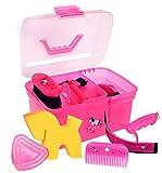 Amesbichler Putzbox Putzkiste Unicorn PINK befüllt für Kinder, mit herausnehmbarem Einsatz |...