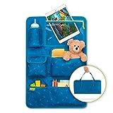 Kinder Autositz-Organizer und Rückenlehnenschutz - Autositzschoner, 8 Fächer, mit Tablet-Halter,...