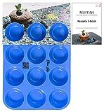 Kitchen Helpis Smarte Muffinform BPA-frei und antihaftbeschichtet   incl. Rezepte E-Book, Silikon...
