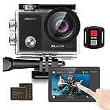 Dragon Touch Action Cam 4K /unterwasserkamera 16MP WiFi Sports Kamera wasserdicht Kamera 30M 170°...