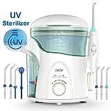 Munddusche mit UV-Sterilisator THZY Professionelle Water Flosser mit Großem 600 ml Wassertank,...