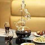 Handgefertigtes Weinschlürf-Set mit mit vier Schlürf-Gläschen mit eingebautem Glas-Halm von...