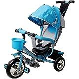 Dreirad Kinderdreirad Fahrrad Raceline Kinder Kleinkinder Baby ✔verstellbares Sonnenschutzdach...
