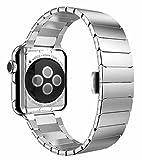 PhoneStar Premium Edelstahl Armband für Apple Watch 42mm Series 1, 2 und 3 [verbesserter Butterfly...