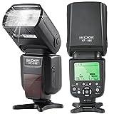 K&F Concept TTL KF-885 Universal Blitz Blitzgerät Blitzlicht für Canon und Nikon Kamera mit HSS...