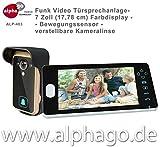 Funk- Video Türsprechanlage ALP-403 (nachfolge Modell ALP-400) NEU: verstellbare Kameralinse - 7...
