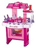 Brigamo 472 - Spielzeug Kinderküche, SpielKüche mit Kochgeschirr, inkl. Licht und...