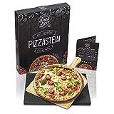 Dolce Mare Pizzastein - Pizza Stein aus hochwertigem Cordierit für den Backofen & Grill - Backstein...