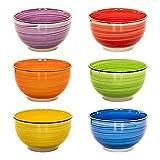 esto24 Design 6er Set Müslischalen Dessertschale 750ml Porzellan in tollen Farben - Das Highlight...