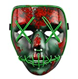 The Purge Wahl Jahr LED Beleuchtung Maske Fest Halloween Kostüm