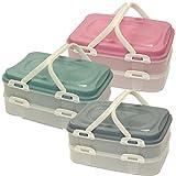 Oxid7® Partycontainer Transport-Box mit Tragegriff | Kuchenbehälter und Lebensmittelbox mit 2...