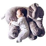smartpillow Kuscheltier Elefant   60cm XXL Plüschtier Kissen groß grau Geschenk für Kinder Baby