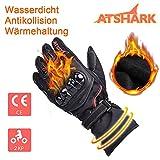 Motorradhandschuhe Herren, Atshark Motorrad Handschuhe Wasserdicht Touchscreen Handschuhe 2KP Warm...