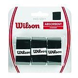 Wilson Unisex Tennis-Griffbänder Pro Soft 3er, Schwarz, WRZ4040BK