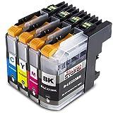 4x Druckerpatronen Komp. mit Brother LC223 XL LC223XL LC-223XL LC-223 XL mit Brother MFC-J5320DW...
