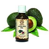 Avocado Öl, kaltgepresst und raffiniert, 100% naturreines und reines 50ml, Glasflasche, Basisöl,...