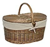 Rot eh055W Deep Antik Wash Picknickkorb oval, braun, 25x 50x 35cm