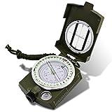 DLAND Militär Marschkompass mit Tasche für Camping, Wanderung,Klettern, Rad fahren, und andere...