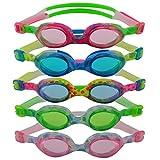 #DoYourSwimming »Flippo« Kinder-Schwimmbrille, 100% UV-Schutz + Antibeschlag. Starkes Silikonband...