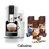 Tchibo SAECO Cafissimo LATTE Bianco inkl. 90 Kapseln - Kaffeemaschine (für Kaffee, Espresso,...