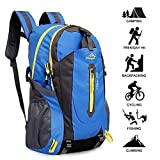 Yunplus 40L Leichtes Wandern Rucksack, Multifunktions Wasser-resistent Casual Camping Trekking...