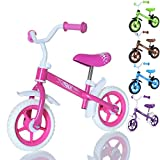 LCP Kids TRAX Kinder Laufrad als Lern Fahrrad ab 2 Jahren - 10 Zoll, Farbe Rosa