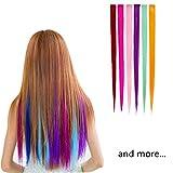 SwirlColor 12 Stück 55cm (21 ') Multi-Farben-Partei-Highlight auf dem Clip in Hair Fashion Beauty...