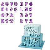 Chinatera 40 x Ausstechformen Alphabet/Zahlen, Buchstaben, für Fondant/Zuckerguss,...