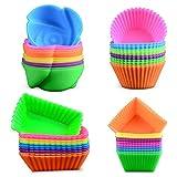 WENTS Cupcake Förmchen - 24 Wiederverwendbare Muffinförmchen von 6 Farben aus hochwertigem Silikon...