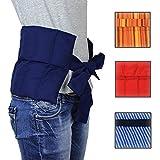 Hilfe bei Rückenschmerzen, Bandscheibenleiden! Hexenschuss Großes Wärmekissen mit Bändern-...